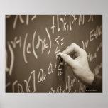 Ecuaciones de la matemáticas de la impresión del h póster
