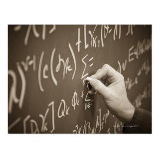 Ecuaciones de la matemáticas de la impresión del tarjetas postales
