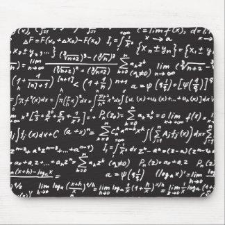 Ecuaciones de la matemáticas de la pizarra alfombrilla de ratón