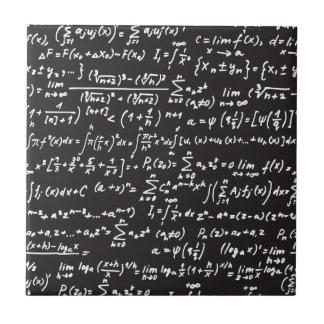 Ecuaciones de la matemáticas de la pizarra azulejo cuadrado pequeño