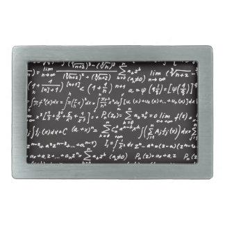 Ecuaciones de la matemáticas de la pizarra hebillas cinturón rectangulares
