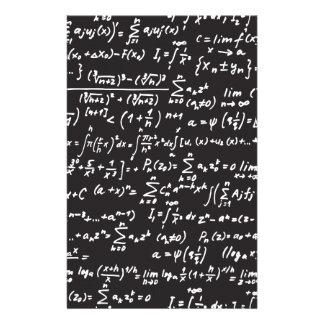 Ecuaciones de la matemáticas de la pizarra papelería