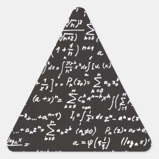 Ecuaciones de la matemáticas de la pizarra pegatina triangular