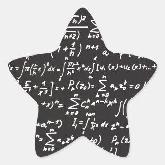 Ecuaciones de la matemáticas de la pizarra colcomanias forma de estrella personalizadas