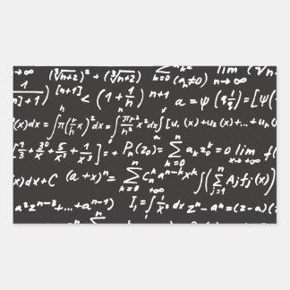 Ecuaciones de la matemáticas de la pizarra rectangular altavoz