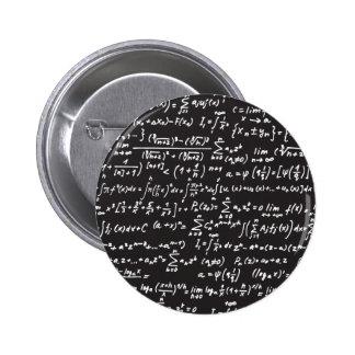 Ecuaciones de la matemáticas de la pizarra pin redondo de 2 pulgadas