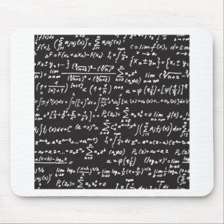 Ecuaciones de la matemáticas de la pizarra alfombrilla de raton