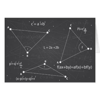 Ecuaciones de la matemáticas tarjetas