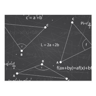 Ecuaciones de la matemáticas tarjetas postales