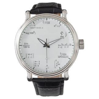 ecuaciones geeky y nerdy de la fórmula de la relojes de mano