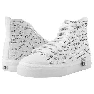 Ecuaciones y fórmulas de la matemáticas zapatillas