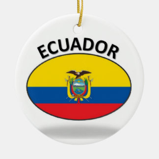 Ecuador Adorno Navideño Redondo De Cerámica