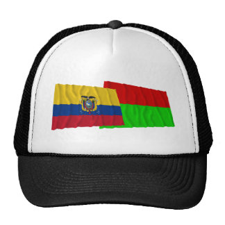 Ecuador and Bolívar waving flags Hats