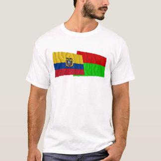 Ecuador and Bolívar waving flags T-Shirt