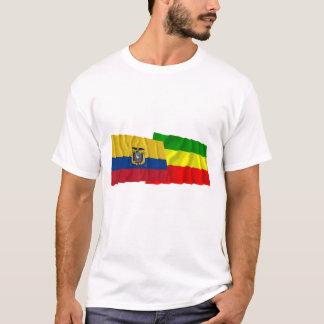 Ecuador and Carchi waving flags T-Shirt