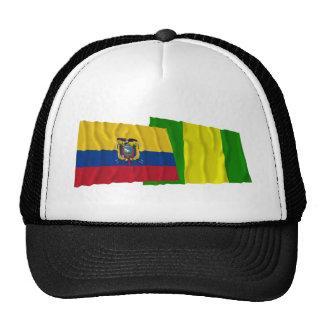 Ecuador and El Oro waving flags Hat