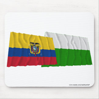 Ecuador and Esmeraldas waving flags Mouse Pad