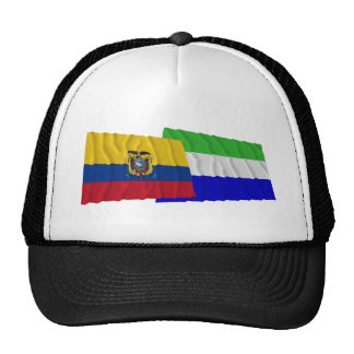 Ecuador and Galápagos waving flags Trucker Hat