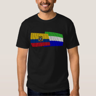 Ecuador and Galápagos waving flags Tshirt