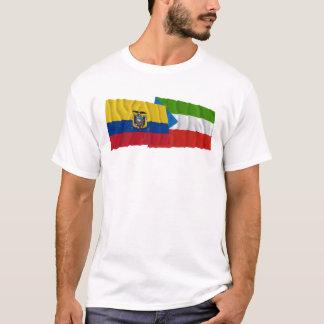 Ecuador and Imbabura waving flags T-Shirt