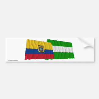 Ecuador and Los Ríos waving flags Car Bumper Sticker
