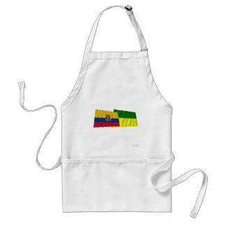 Ecuador and Morona-Santiago waving flags Adult Apron