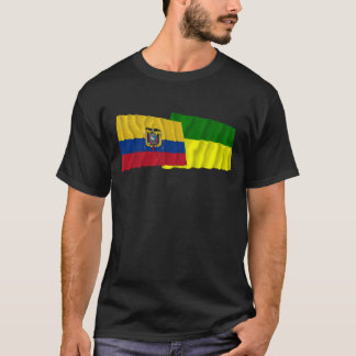 Ecuador and Morona-Santiago waving flags T-Shirt