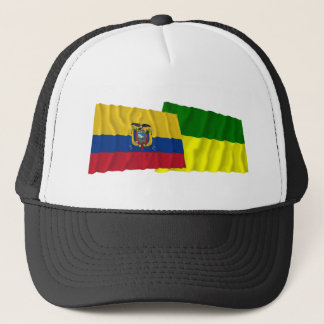 Ecuador and Morona-Santiago waving flags Trucker Hat