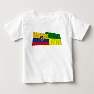 Ecuador and Morona-Santiago waving flags Tshirt