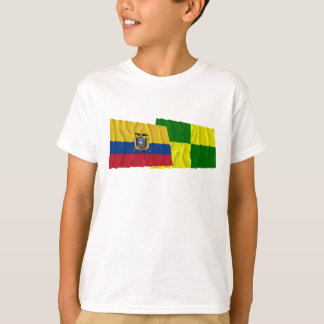 Ecuador and Pastaza waving flags T-Shirt