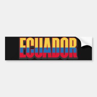 Ecuador Big Bumper Sticker