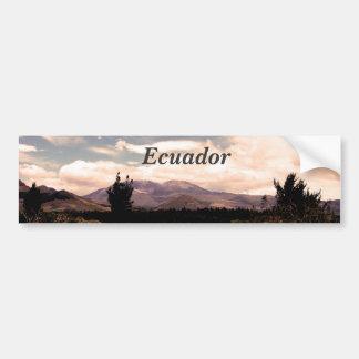 Ecuador Car Bumper Sticker