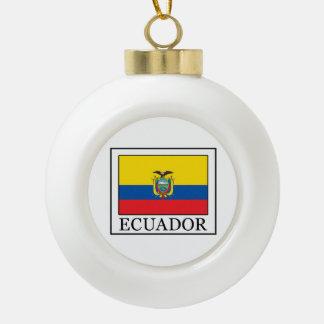 Ecuador Ceramic Ball Christmas Ornament