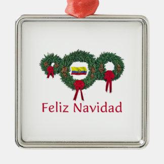 Ecuador Christmas 2 Metal Ornament
