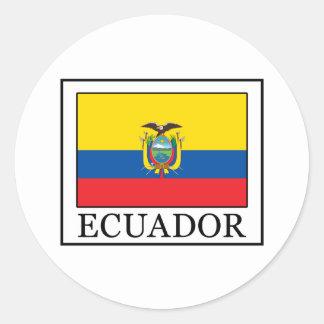 Ecuador Classic Round Sticker