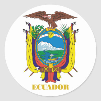 Ecuador COA Classic Round Sticker