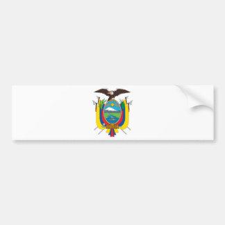Ecuador Coat Of Arms Car Bumper Sticker
