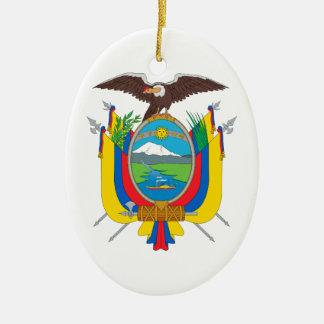 Ecuador Coat of Arms Ceramic Ornament