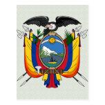 Ecuador Coat of Arms detail Postcard