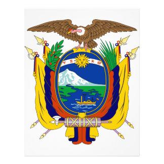 Ecuador coat of arms full color flyer