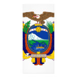 Ecuador coat of arms personalized rack card