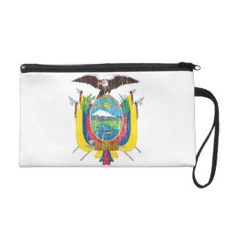 Ecuador Coat Of Arms Wristlet Purse