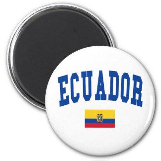 Ecuador College Style 2 Inch Round Magnet