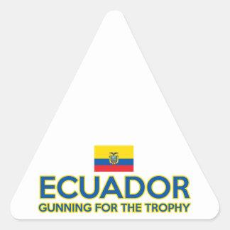 Ecuador design triangle sticker