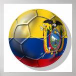 Ecuador Elt Tri soccer futbol ball gifts Poster