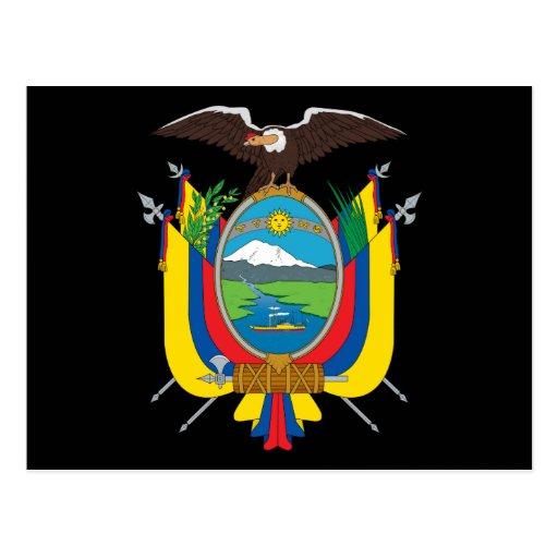ecuador emblem postcard