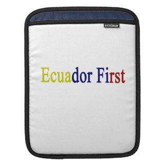 Ecuador First iPad Sleeves