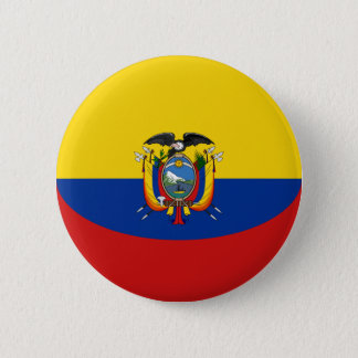 Ecuador Fisheye Flag Button
