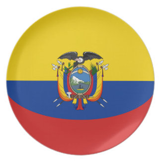 Ecuador Fisheye Flag Plate