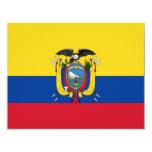 "Ecuador flag 4.25"" x 5.5"" invitation card"